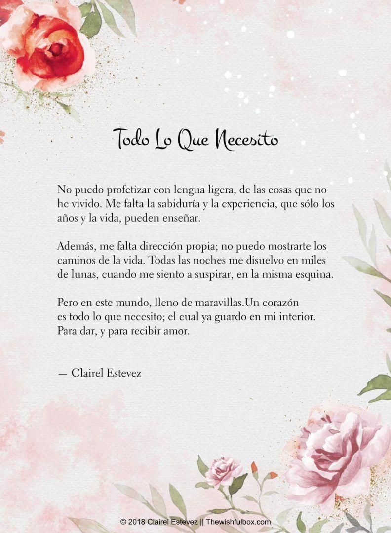 Poemas Y Palabras De Amor Poemas De Amor Palabras De Amor Frases De Amor