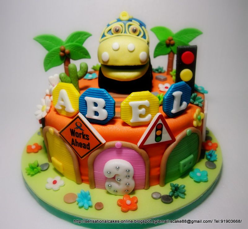 CHUGGINGTON TRAINS THEME Sensational Cakes Singapore - Chuggington birthday cake