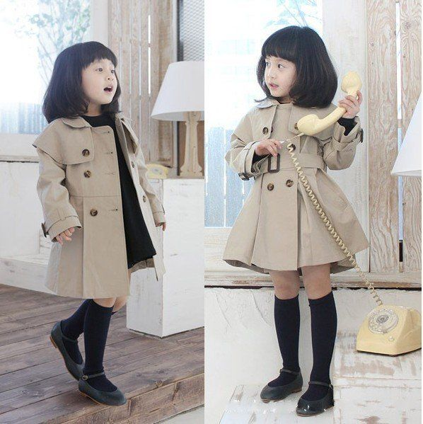 EMS/DHL free ship baby gir kid child wind coat jacket outwear ...
