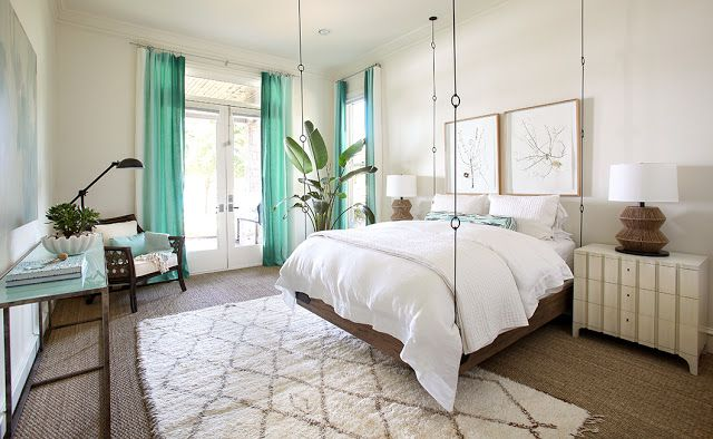 The Peak of Tres Chic - color palette: wood tones, creams, with accents of aqua, pale blue, natural green, and natural steel.
