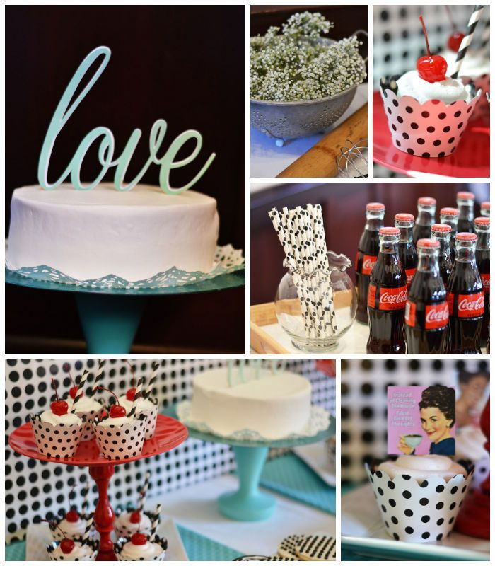 1950s Housewife themed Bridal Shower with SUCH CUTE IDEAS via