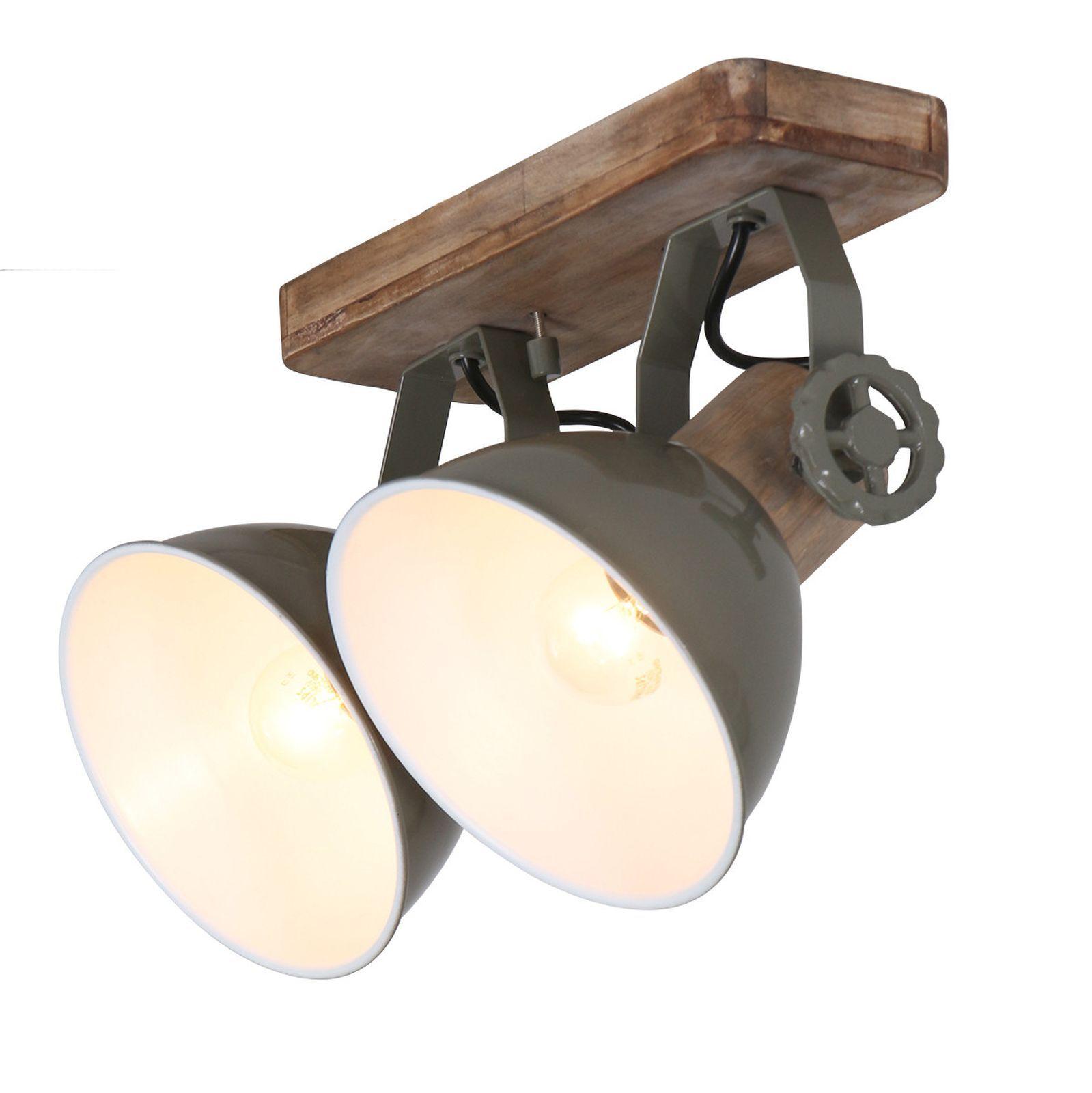 Deckenleuchte 2er Spot Steinhauer 7969g Mexlite Wandlampe Vintage E27 Deckenlampe Holz Lampe Lampen Bad