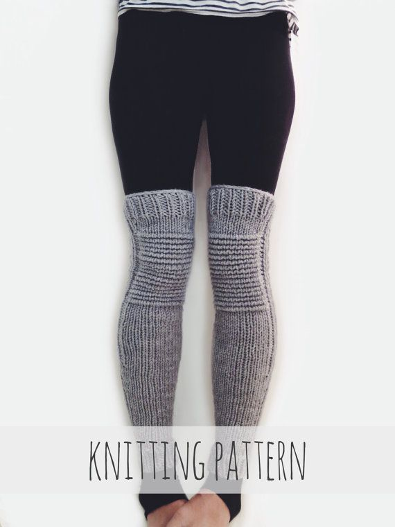 PATTERN for Knit Leg Warmers Motorcycle Padded Quilted #aff | Knit ...