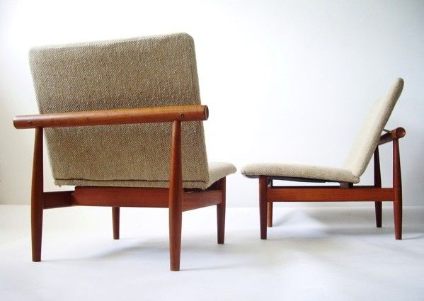Pair of Finn Juhl Japanese Chairs Model 137  Modern Love