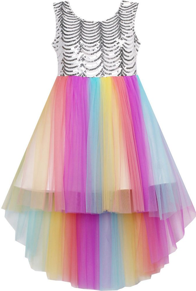 27082581f8c Flower Girl Dress Sequin Mesh Party Wedding Princess Tulle Size 7-14  Pageant  SunnyFashion  EverydayPageantParty