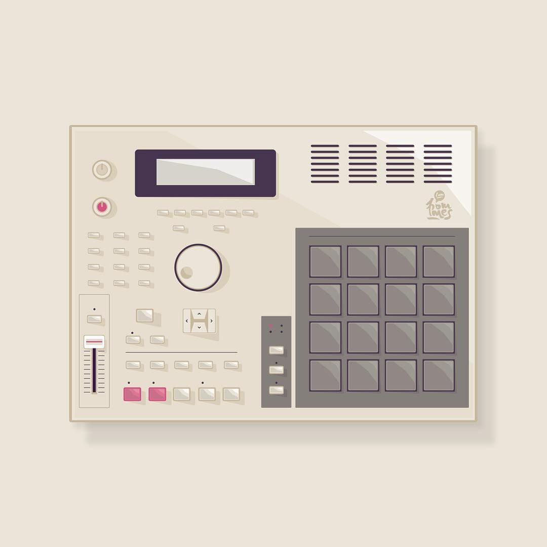 tbt Old illustration of a MPC         #throwback #mpc2000
