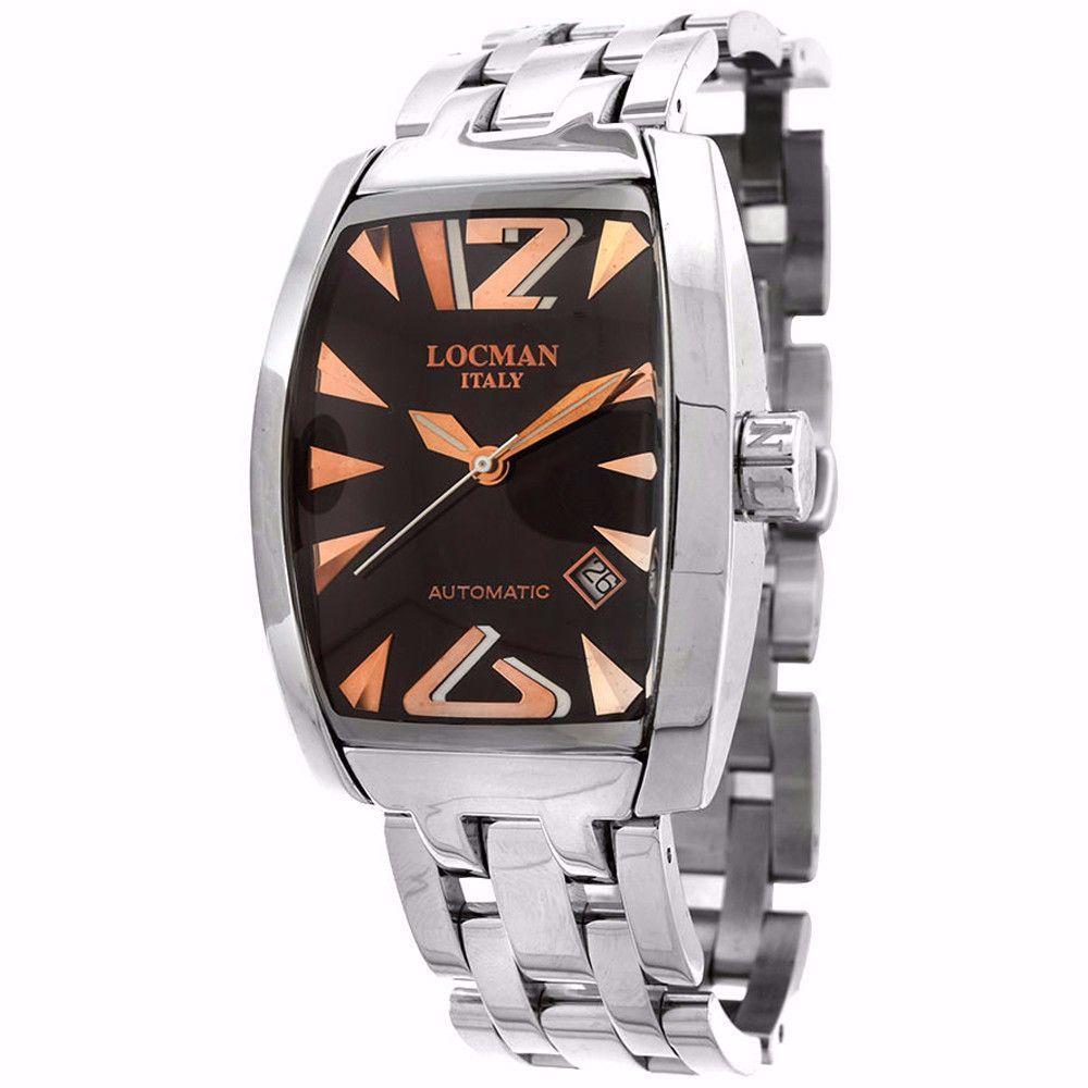 locman mens stainless steel black dial automatic watch products locman mens stainless steel black dial automatic watch