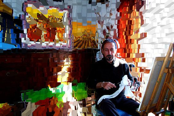 piccola galleria virtuale di alcuni suoi quadri dipinti ad olio su tela Musica libri e fotografie - Quadri ad olio originali e copie d'autor...