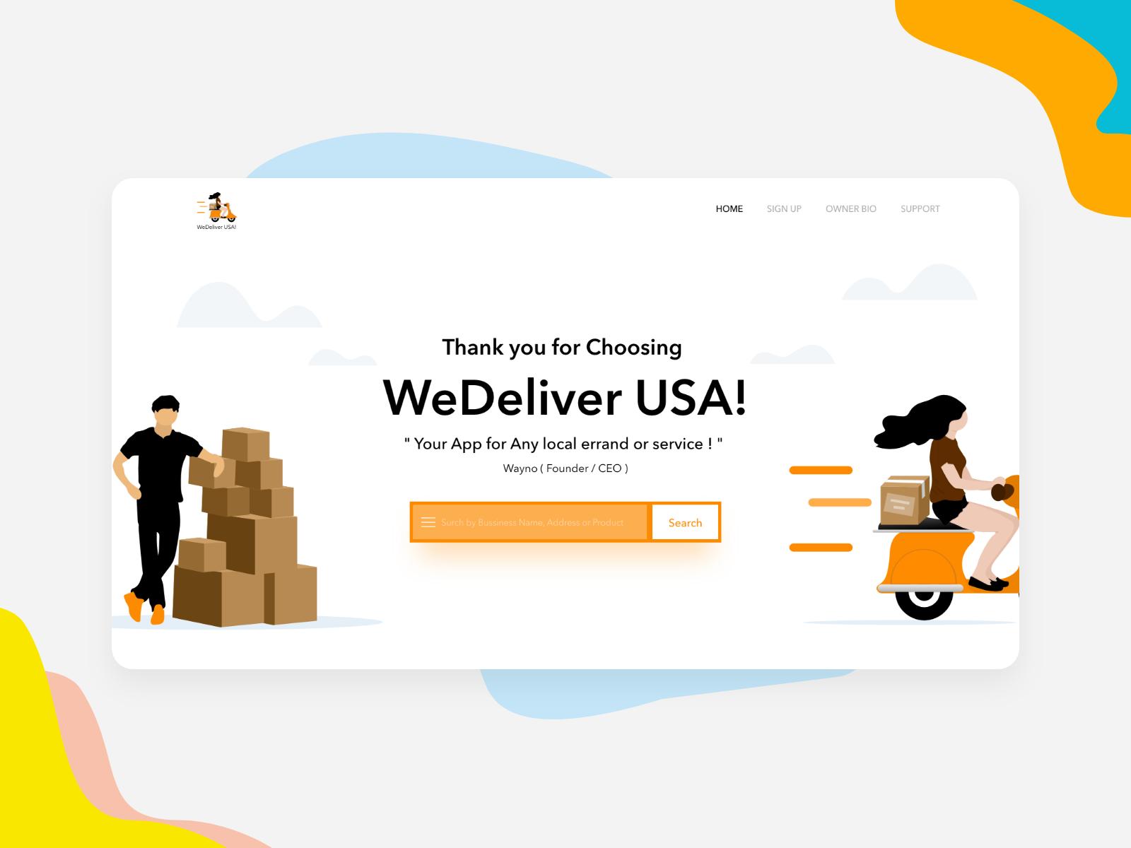 Wedeliver Usa in 2020 Graphic designer salary, Website
