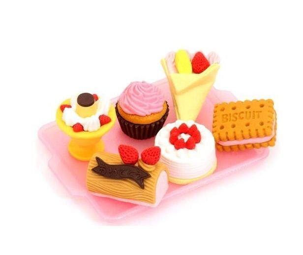 from iwako erasers cake ice cream 6 pieces set