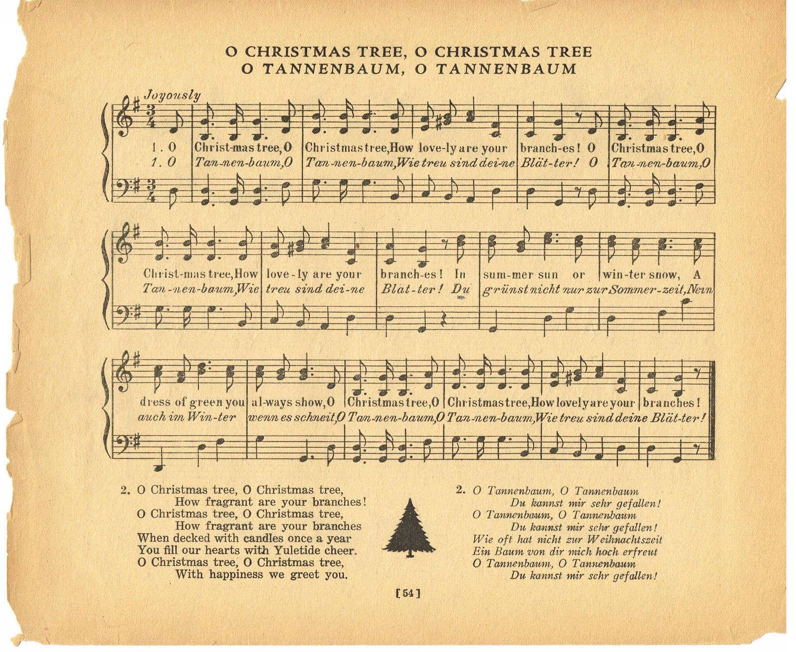 Vintage christmas song lyrics