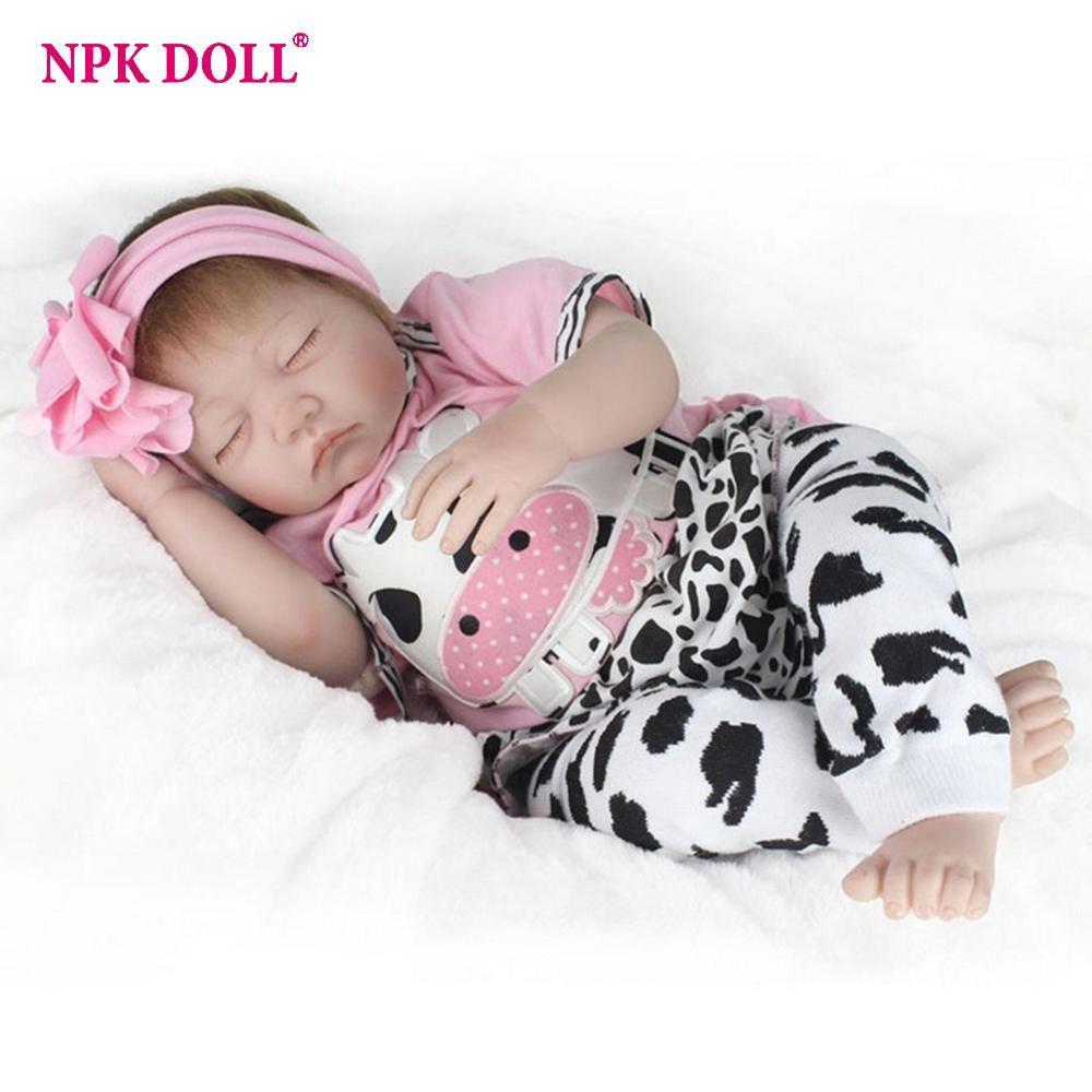 Npkdoll 22 55cm Silicone Reborn Baby Doll Kids Accompany Newborn Realistic Dolls Baby Christmas Gift Baby Dolls For Kids Reborn Baby Girl Silicone Reborn Babies