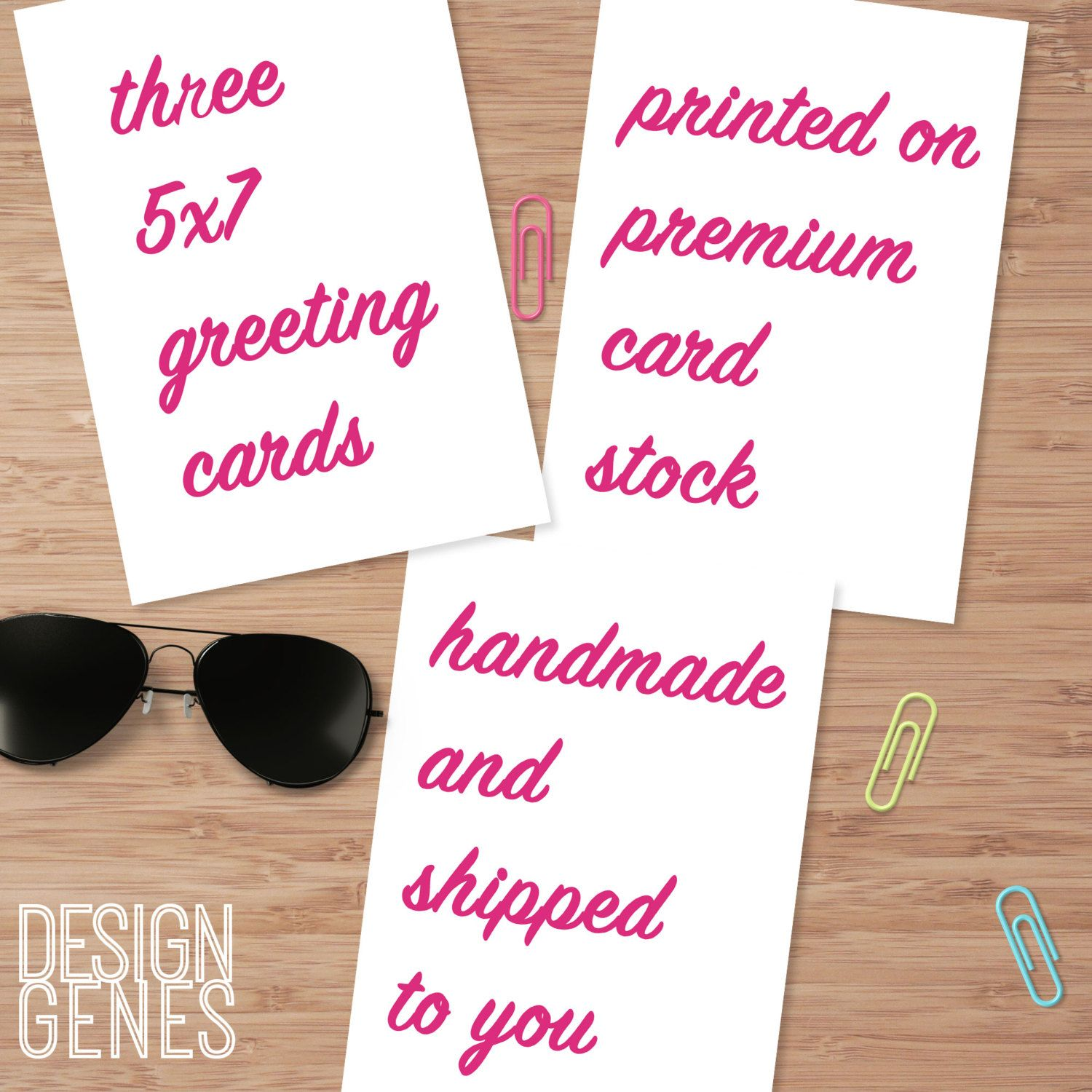 New To Designgenesstudio On Etsy Three 5x7 Handmade Greeting Cards