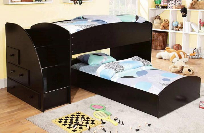 Avec Twin L Shape Low Stairway Loft Bed For The Kids Bunk Beds