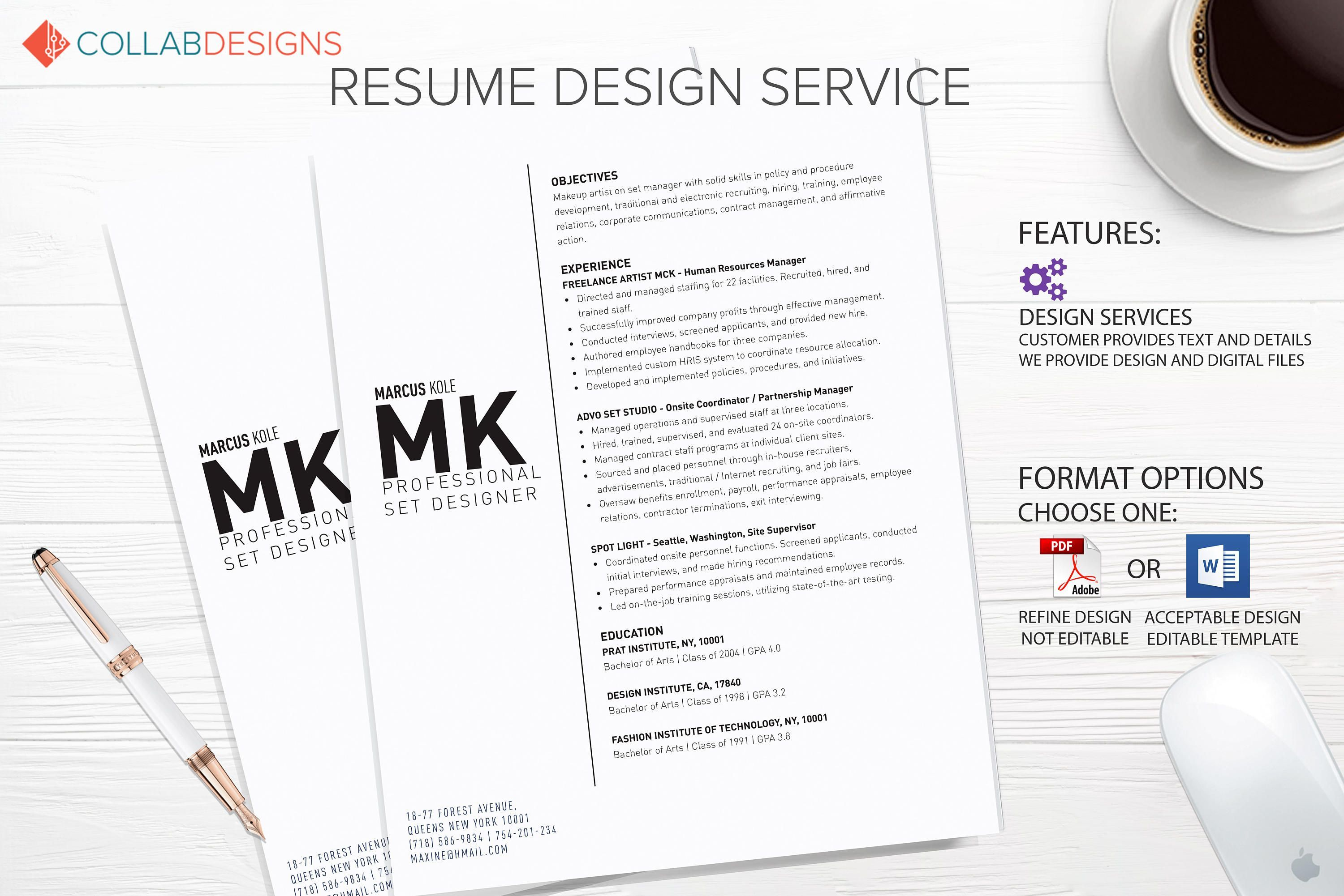 Resume Template Resume Design Custom Resume Professional