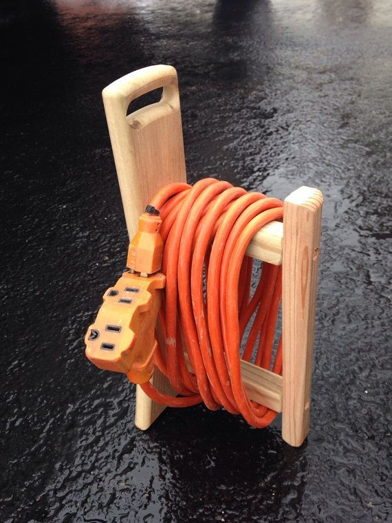 Photo of Home, Garage, Workshop Wooden 50′ Electrical Cord or Rope Caddie Tool – Today Pin
