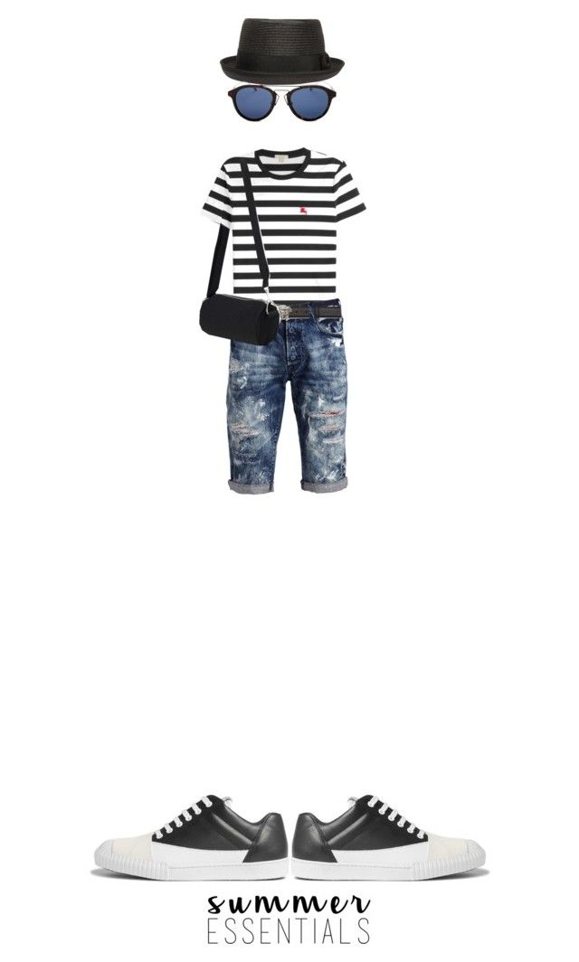 """""""Weekend"""" by kathyaalrust ❤ liked on Polyvore featuring Burberry, PRPS, Versace, Diesel, Christian Dior, Marni, men's fashion, menswear and summermenswearessentials"""