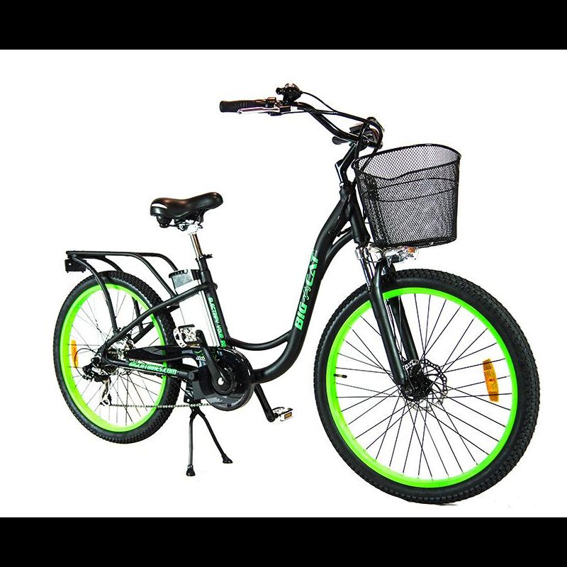 Big Cat Long Beach Cruiser 500w 48v Electric Bicycle