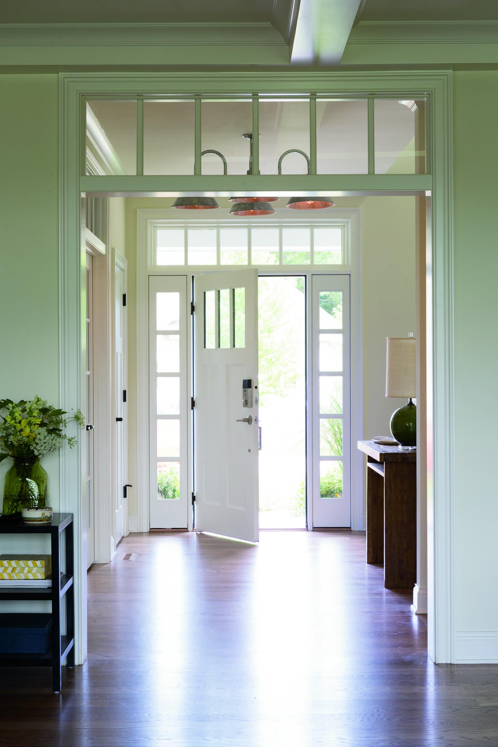 Smart Home Entry Door With Sidelights Entry Doors Pella Doors