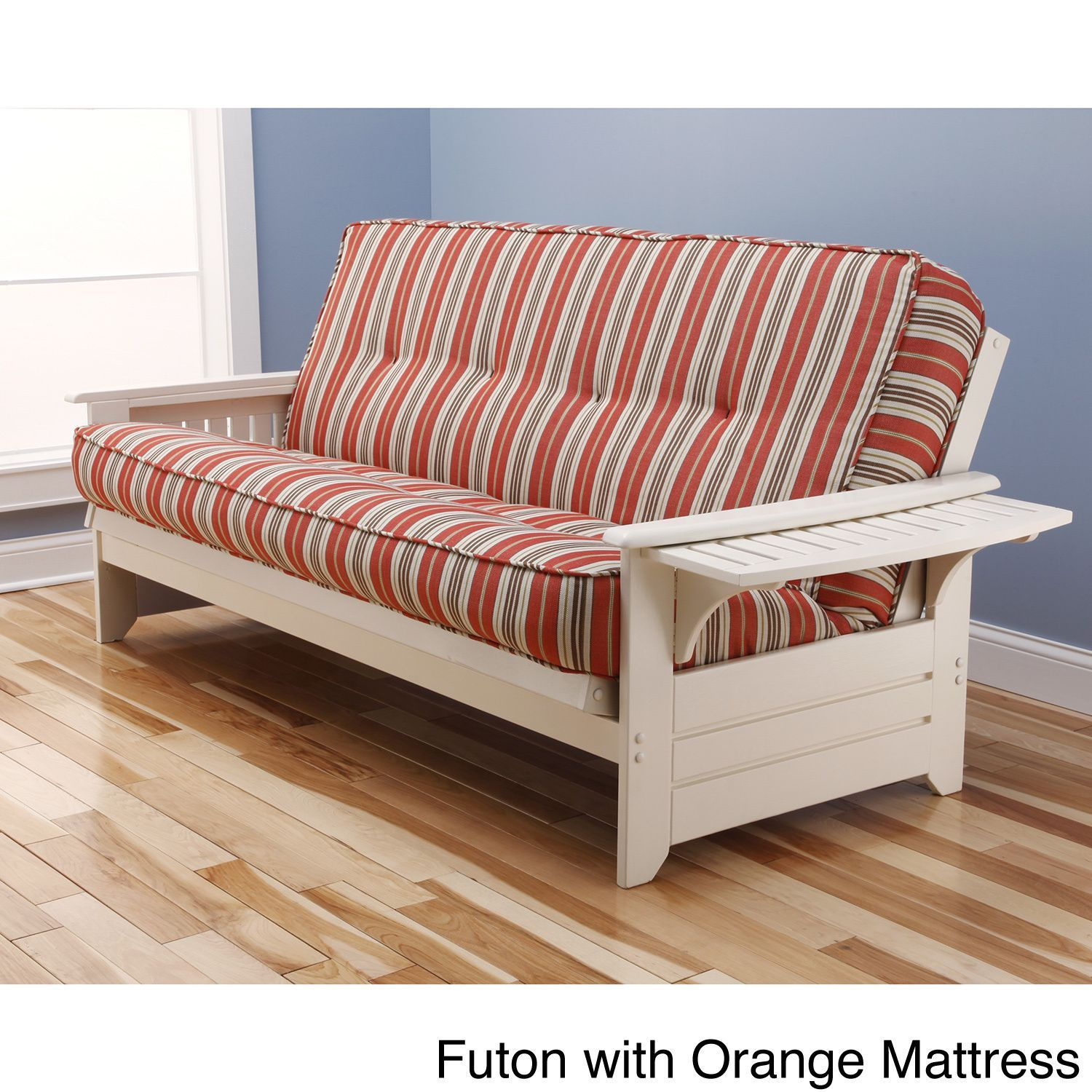 Sit, lounge or sleep on the multi functional Futon Set. This unique ...