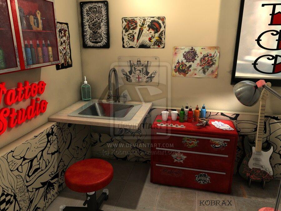 Small home studio | Tattoo studio interior, Tattoo studio