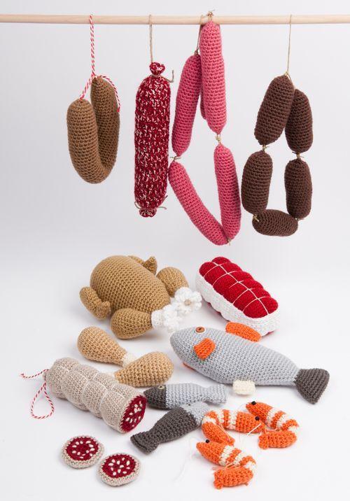 Wurst Und Fisch Häkeln Kaufladen Pinterest Crochê Trico Und