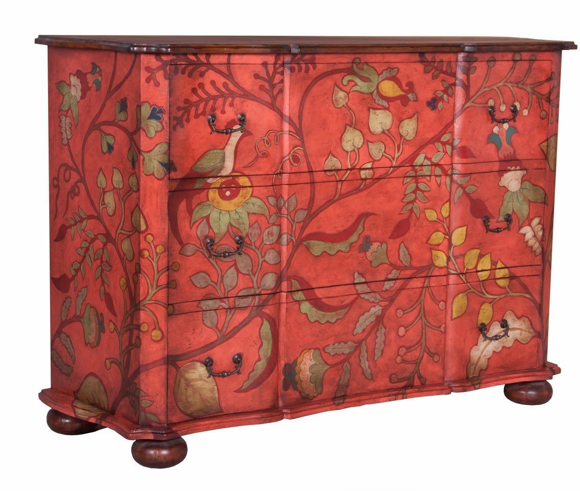 Tropical birds in paradise chest homecraftdecor pinterest painted furniture hand painted furniture y furniture