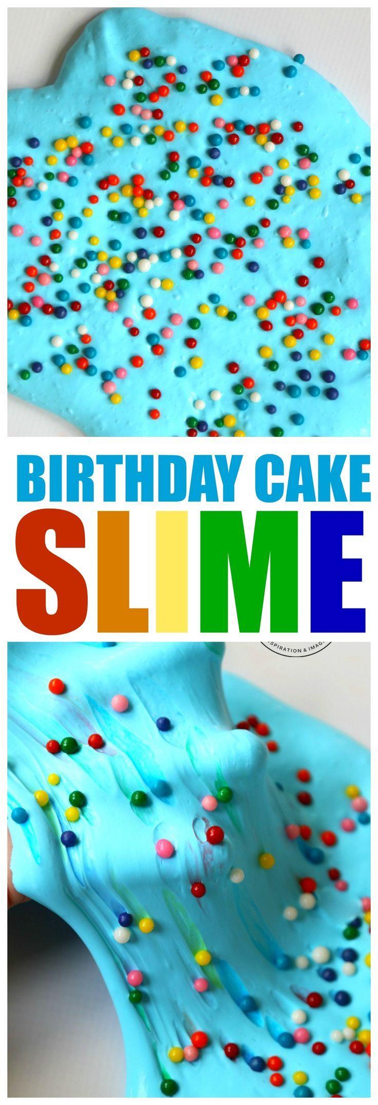 Birthday Cake Slime : Large Sprinkle Slime