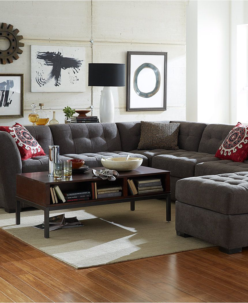 roxanne fabric 6piece modular sectional sofa 2 corner units 3 armless chairs