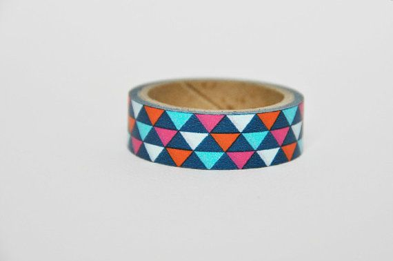 Washi+Tape+triangolini+colorati+/+Colored+Triangles+di+Partytude,+€3.50