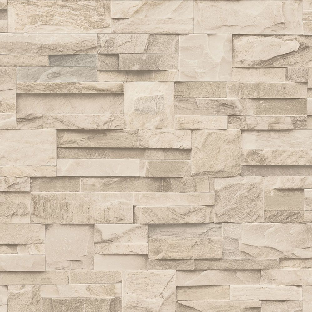 Modern Kitchen Wallpaper Texture muriva large slate cream wallpaper j27407 £14.97 | slaapkamer