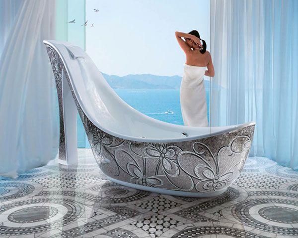 Baignoire mosaïque | Salle de bain | Pinterest | Bathroom bath ...