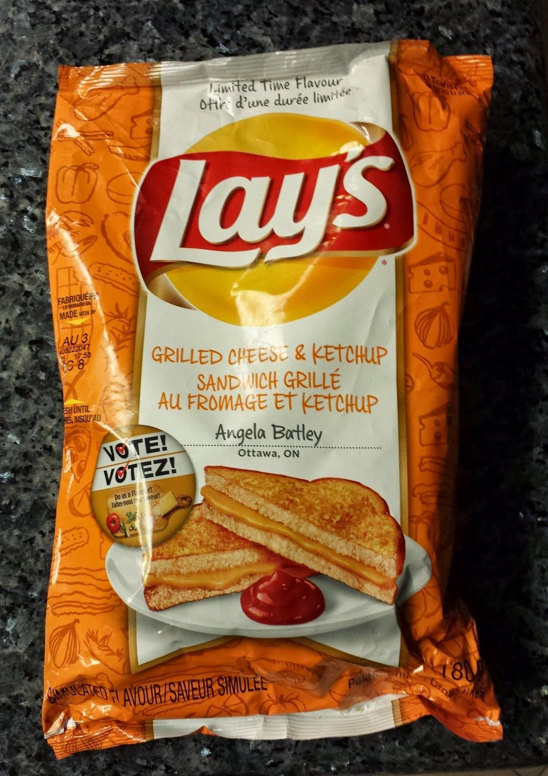 Lays chips french cheese 185g quotes - The Chip Report Lay S Canada Grilled Cheese Ketchup