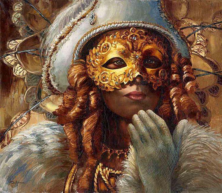 картинки венецианских масок для декупажа