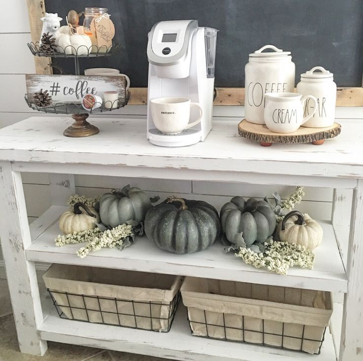 46 Best Farmhouse Home Decor Ideas You Will Totally Love: Coffee Nook, Coffee Bar Home