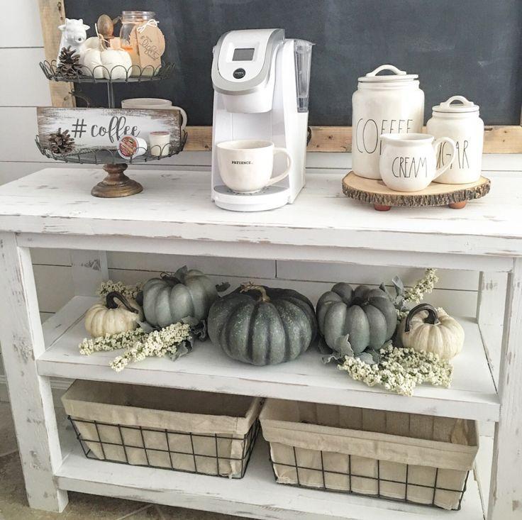 Must Have Farmhouse Kitchen Decor Ideas: Coffee Bar Home, Coffee Nook