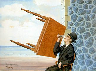 Rene Magritte L Uomo Seduto Al Tavolo Luca Prat E Daniele Lecci Magritte Rene Magritte Renoir