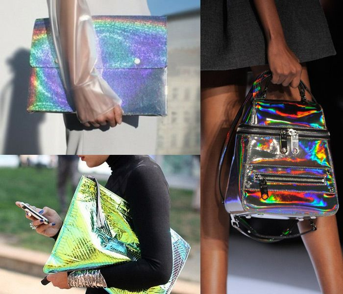 holographic-handbags-trend,  Would you do Holographic?