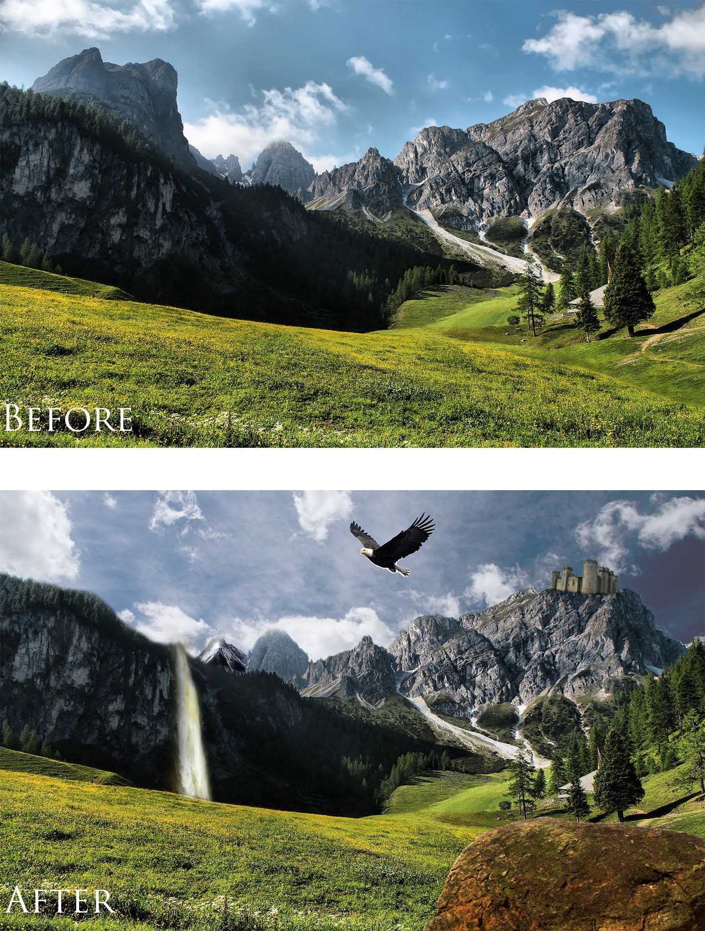 Simple PNG editing. -Removal of Background. -Adding new background ...