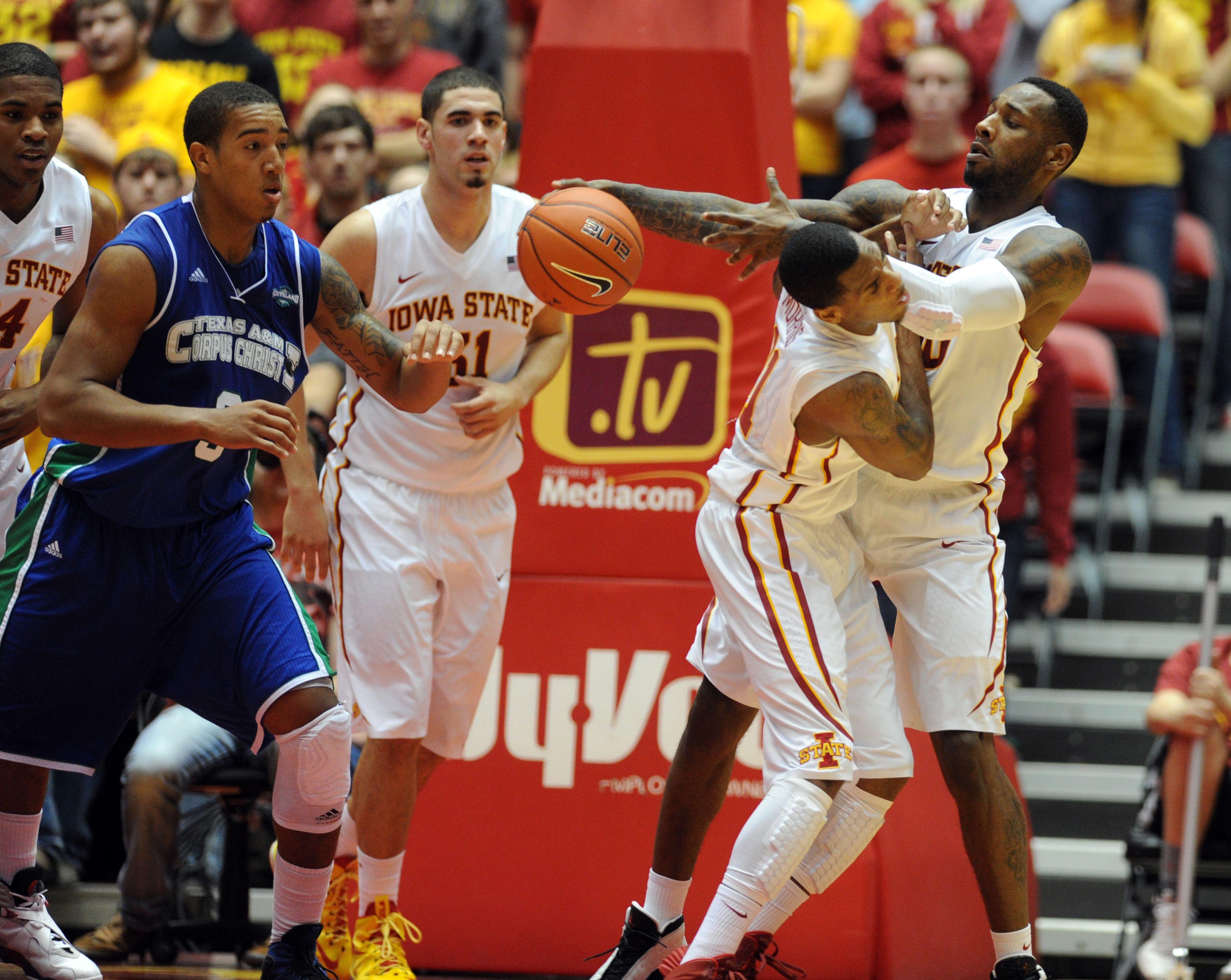 Iowa State S Deandre Kane Steals The Ball From Texas A M Corpus Christi S Zane Knowles On Tuesday Photo By Nirmalendu Maju Iowa State Iowa State Cyclones Iowa