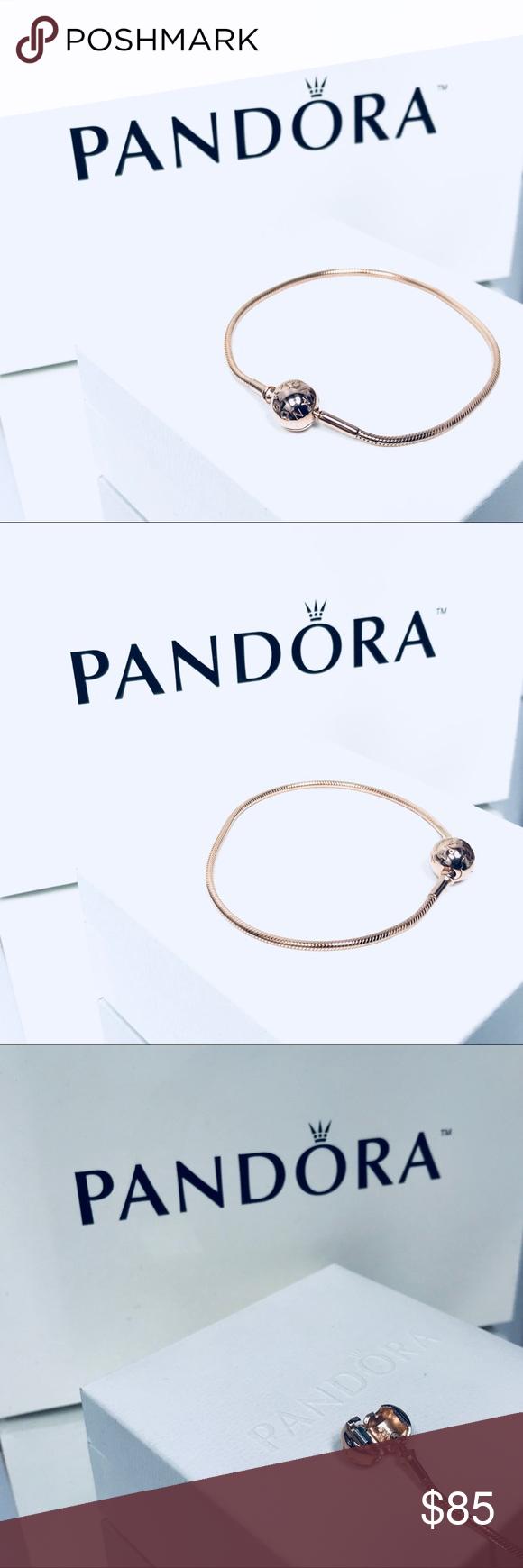 Authentic pandora rose gold essence bracelet new pandora rose gold