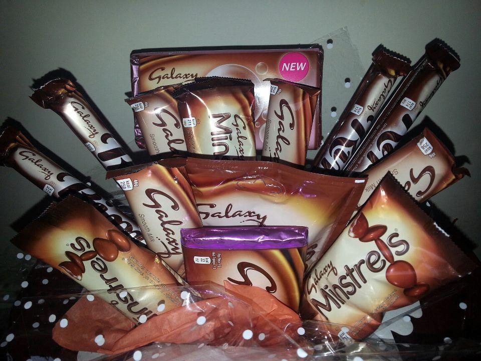 Galaxy Chocolate Bouquet 4 Ripples 4 Galaxy Bars 3 Packs Of