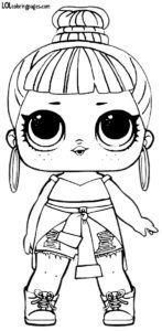 Honey Bun Lol Surprise Series 2 Coloring Page Lol Dolls Coloring Pages Free Kids Coloring Pages