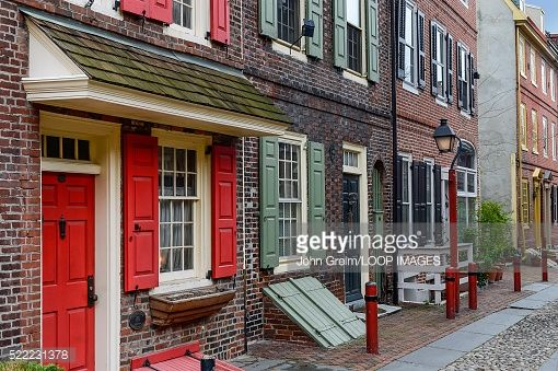 Stock Photo : Elfreths Alley is the Oldest Residential Street in the United States
