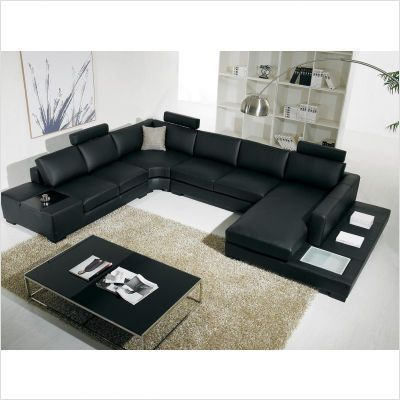 Sectioned Sofas Leather Sectional Living Room Modern Leather