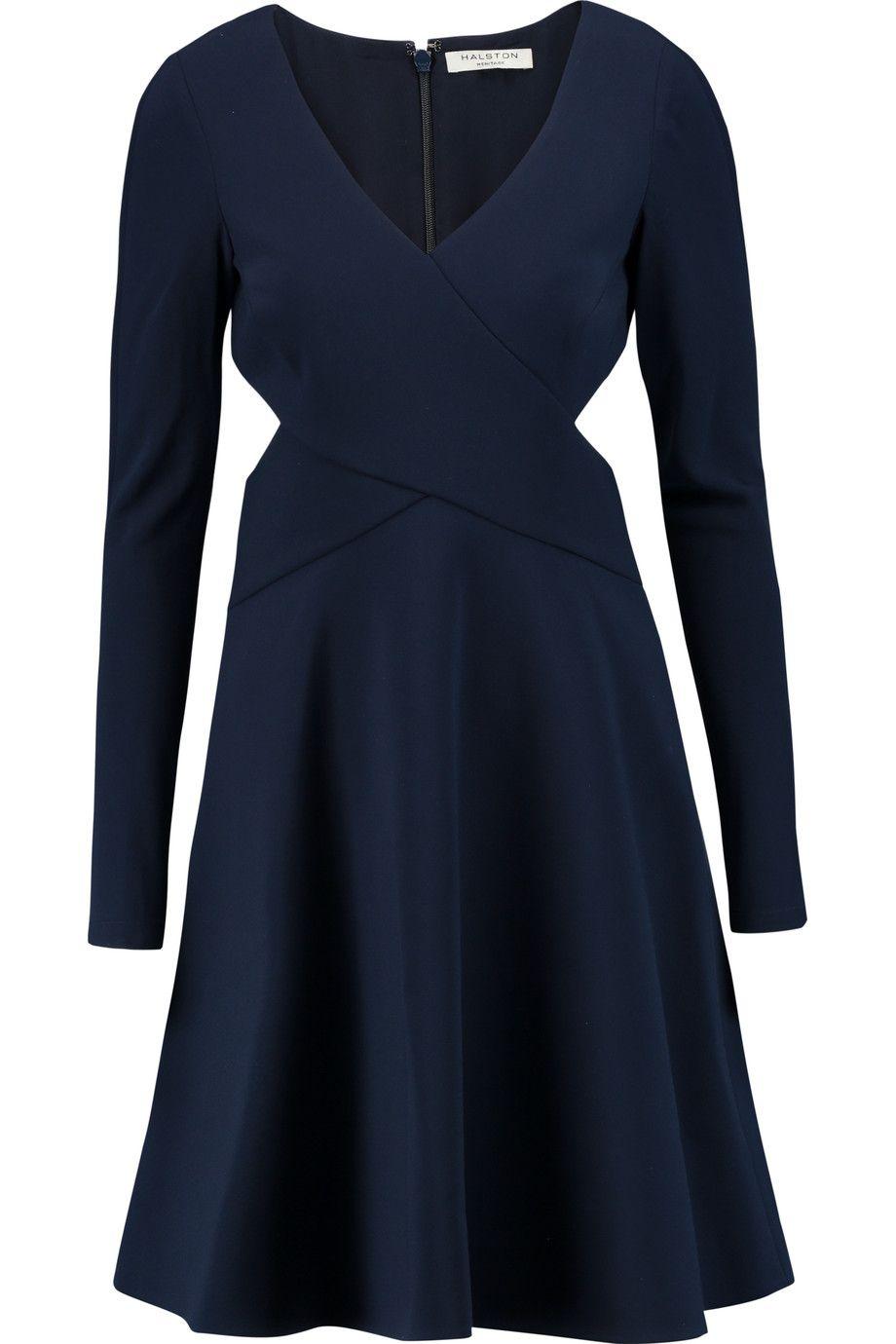 HALSTON HERITAGE Cutout Crepe Dress. #halstonheritage #cloth #dress