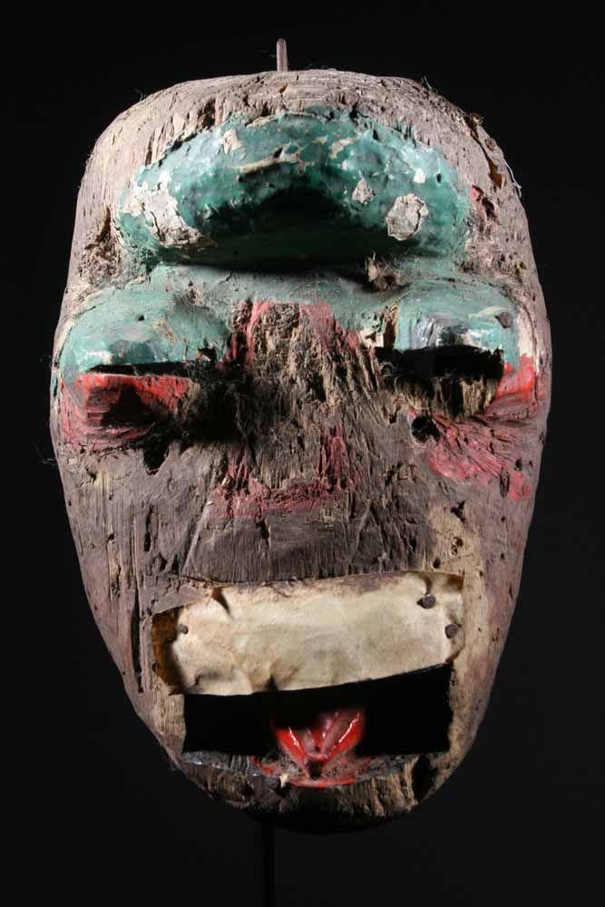 masque africain effrayant