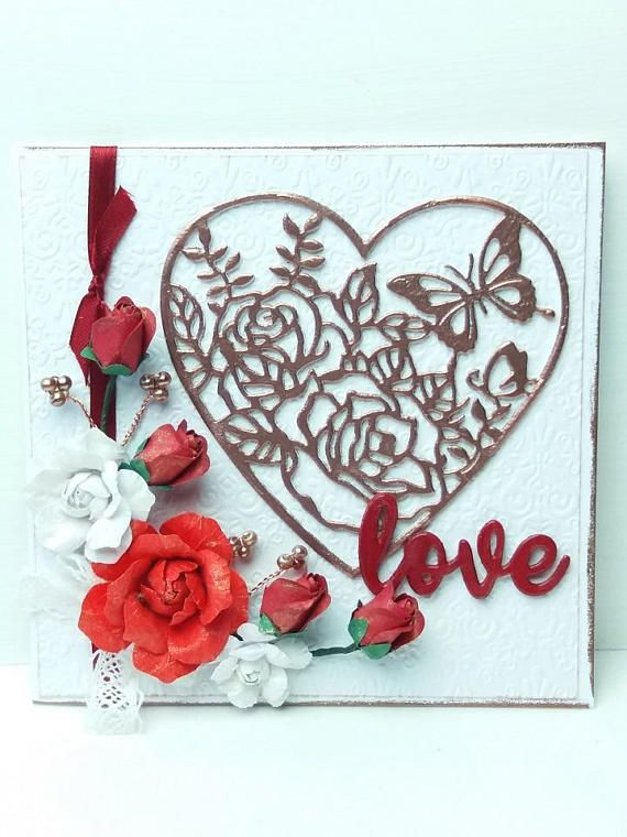 Boxed Valentine S Day Card Card With Red Roses Love Everything