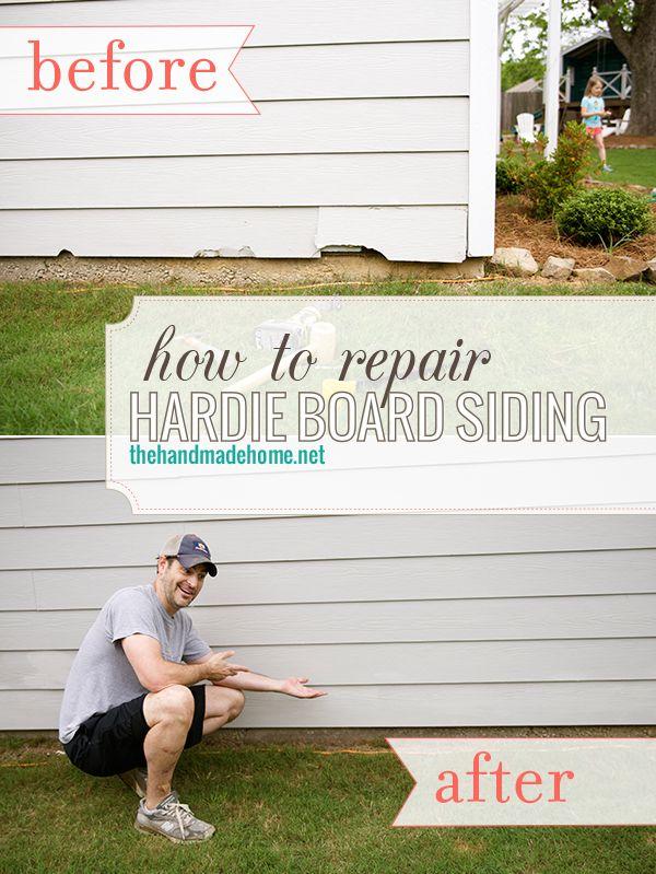 How To Repair Hardie Board Siding The Handmade Home Hardie Board Siding Siding Repair Hardie Board