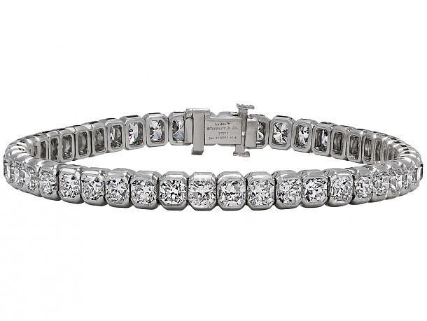 e08de55de Tiffany & Co. 'Lucida' Diamond Line Bracelet in Platinum | Diamonds ...